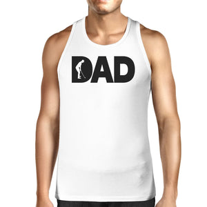 Dad Golf Mens White Graphic Tanks Unique Design Gifts For Father