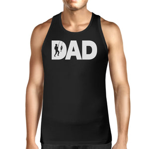 Dad Fish Mens Black Tank Top Fathers Day Gifts For Fishing Lovers