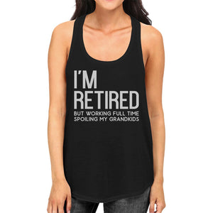 Retired Grandkids Womens Trendy Racerback Sleeveless Top Presents
