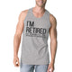 Retired Grandkids Mens Unique Comfortable Graphic Sleeveless Top