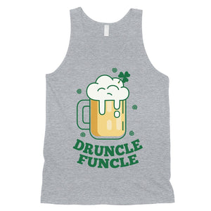 Druncle Funcle Uncle Irish Gift Mens Funny Saying Workout Tank Top