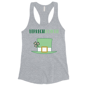 Leprechauntie Aunt Gift Womens Cute Graphic Tank Top St Paddy's Day