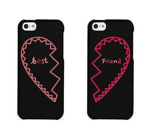 Best Friend Half Heart Matching Phonecases Cute BFF Phone Covers Gift