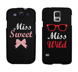 Miss Sweet And Wild Bow And Sunglasses Cute BFF Matching Phone Cases