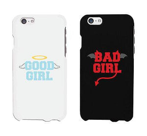 Bad Girl Good Girl White And Black Cute BFF Matching Phone Cases Gift