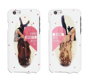 Every Brunette And Blond Cute BFF Matching Phone Cases For Best Friends