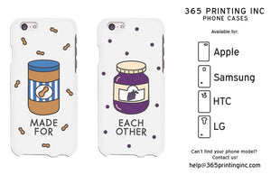 Peanut Butter Jelly Cute BFF Matching Phone Cases For Best Friends