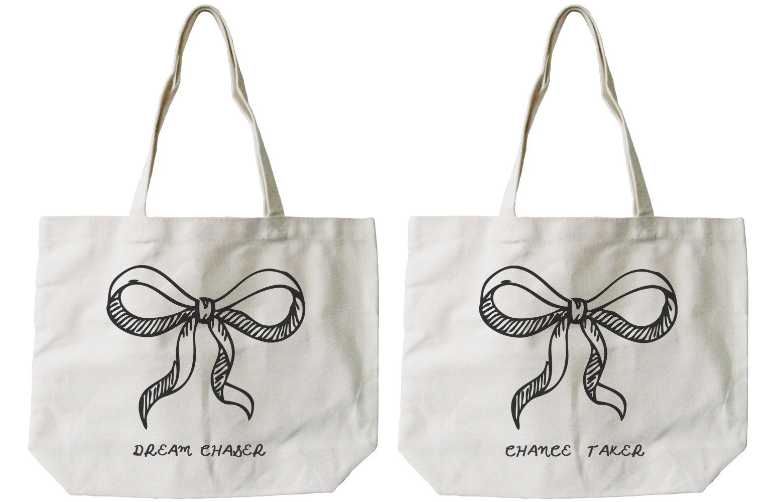 Dream Chaser Chance Taker BFF Matching Canvas Bag for Best Friends
