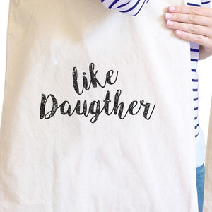 Like Daughter Like Mother Natural Couple Canvas Bag For Mothers Day