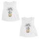 Boba Milk Best-Tea Cute Best Friend Matching Crop Tops For Womens