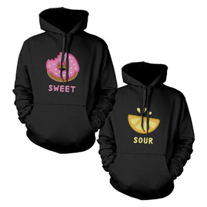 Sweet And Sour BFF Matching Hoodies Best Friends Hooded Sweatshirts