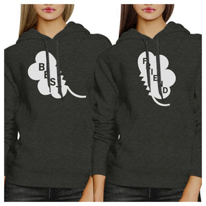 Best Friend Clover Funny BFF Matching Hoodies For St Patricks Day