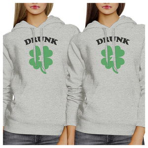 Drunk1 Drunk 2 Cute BFF Matching Hoodies Pullover Funny Gift Ideas