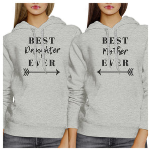 Best Daughter Mother Ever Grey Couple Hoodie Funny Gifts For Moms