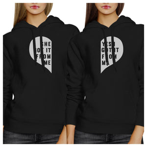 She Got It From Me Black Cute Matching Hoodies Gift Ideas For Moms