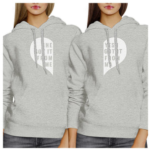 She Got It From Me Grey Cute Matching Hoodies Gift Ideas For Moms
