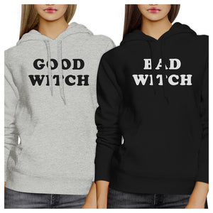 Good Witch Bad Witch BFF Matching Grey and Black Hoodies
