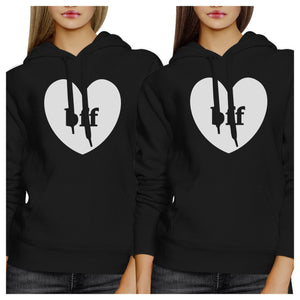 Bff Hearts BFF Matching Black Hoodies