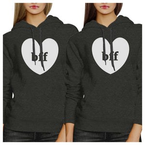 Bff Hearts BFF Matching Dark Grey Hoodies