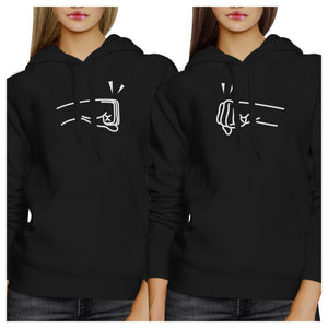 Fists Pound BFF Matching Black Hoodies
