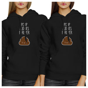 Poop Buddies BFF Matching Black Hoodies