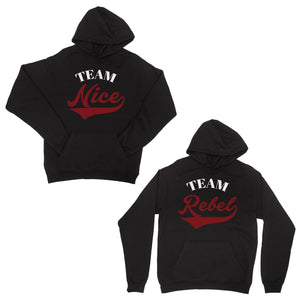 Team Nice Team Rebel Christmas Pullover Hoodies BFF Matching Gift