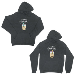 Boba Milk Best-Tea Funny BFF Matching Hoodies Cute Birthday Gift