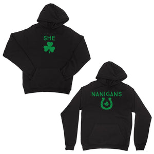 Shenanigans Matching Pullover Hoodies Black Funny Irish Friend Gift