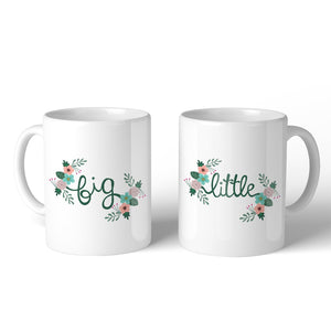 Big Little Floral BFF Matching Gift Coffee Mugs 11 Oz Perfect Gift