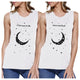 Moon And Back BFF Matching Tank Tops Womens Funny Workout Gifts