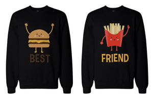 Burger and Fries BFF Sweatshirts Best Friend Matching Pullover Fleece