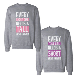 Every Tall And Short BF BFF Sweatshirts Cute Matching Sweat Shirts