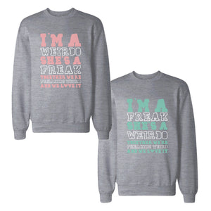 Freak And Weirdo BFF Sweatshirts Friendship Matching Sweat Shirts
