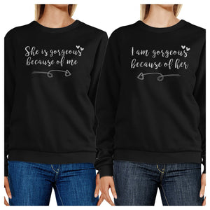 She Is Gorgeous Black Cute Matching Sweatshirts For Mothers Day