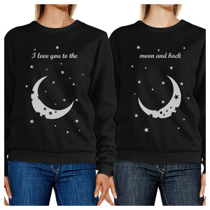 Moon And Back BFF Matching Sweatshirts Gift For Friends Birthday
