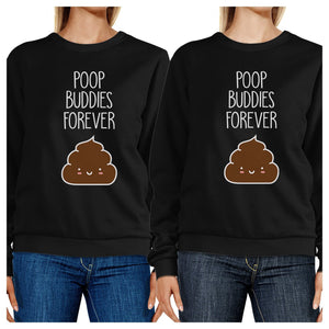 Poop Buddies BFF Matching Black Sweatshirts