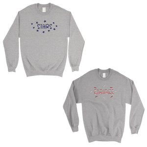 Stars And Stripes BFF Matching Sweatshirts Gift For 4th Of July