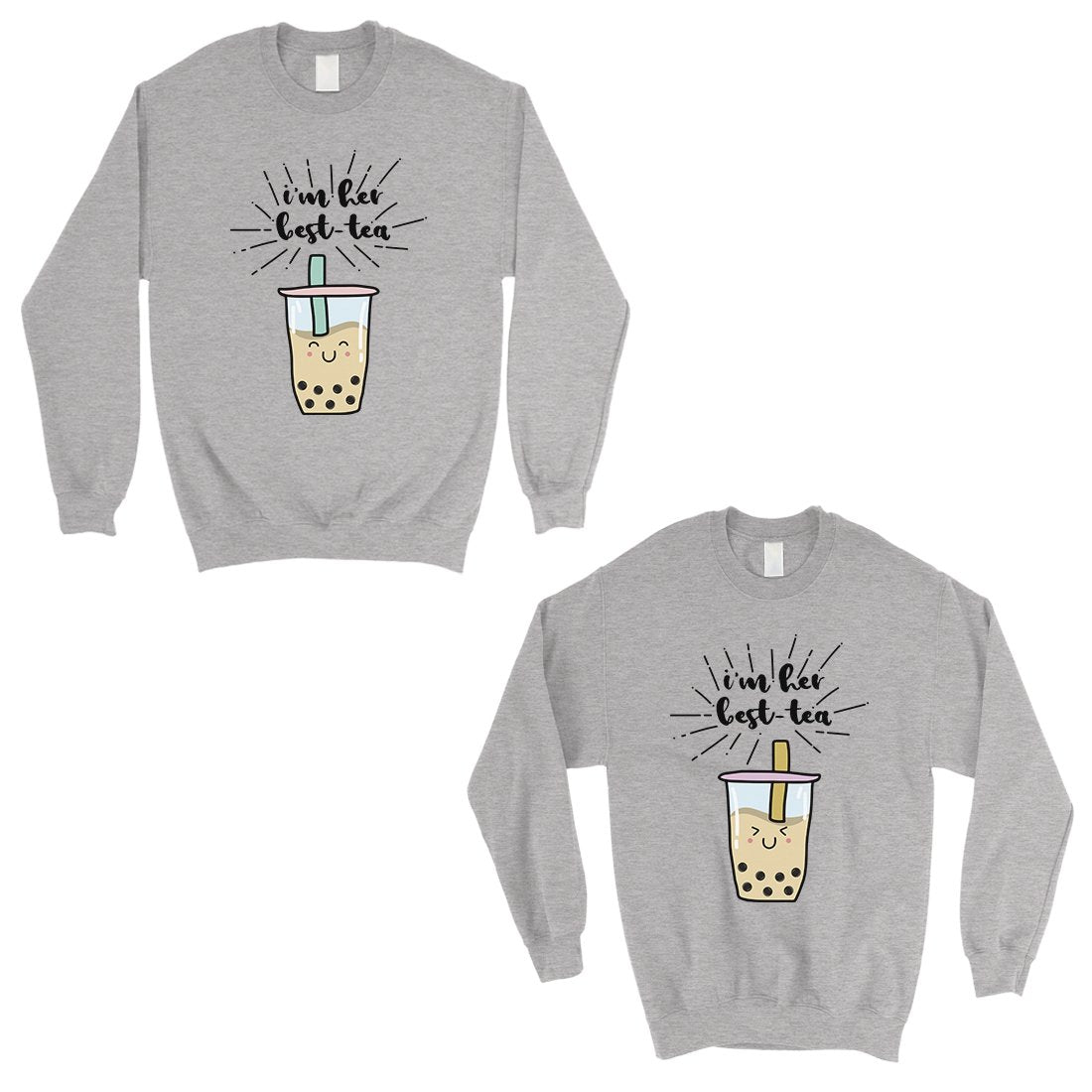Boba Milk Best-Tea Cute BFF Matching Sweatshirts Birthday Gift
