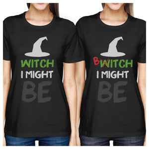 Witch Bitch Funny Graphic Design Printed BFF Matching Shirts