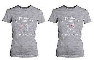 Cute Best Friend Shirts - Everybunny Needs a Best Bunny Matching BFF Shirts