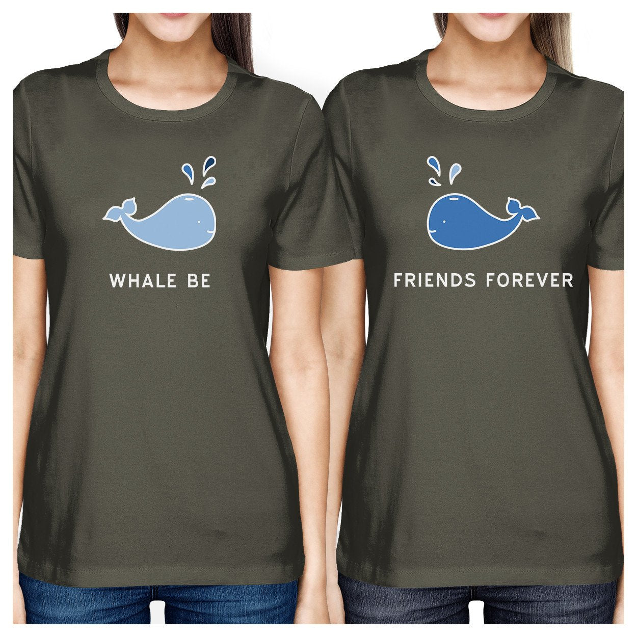 Whale Be Friend Forever BFF Matching Tee Lightweight Summer Top