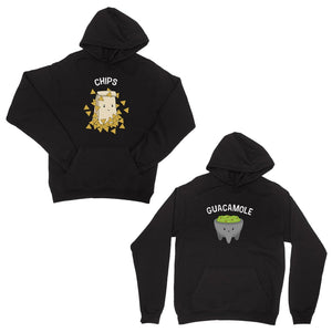 Chips & Guacamole Black Matching Couple Hoodies For Christmas Gift