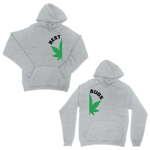 Best Buds Marijuana Grey Matching Couple Hoodies For Christmas Gift