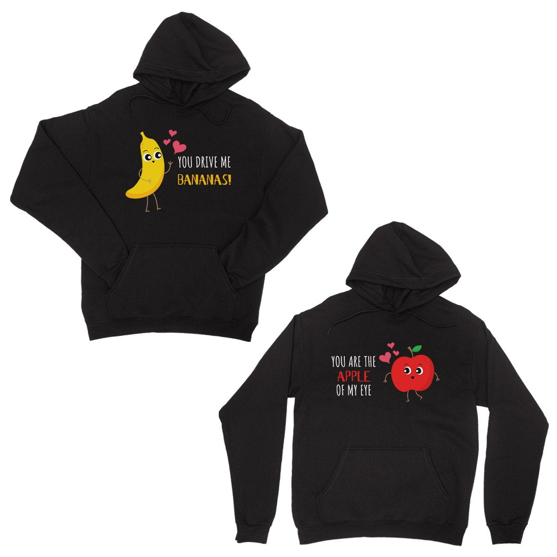 Drive Me Bananas Black Matching Hoodies Pullover Anniversary Gift