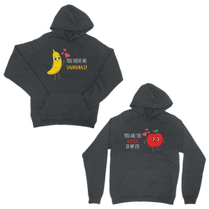 Drive Me Bananas Cool Grey Matching Hoodies Pullover Couples Gift