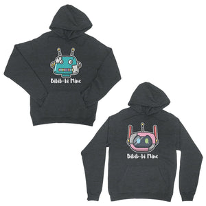 Bibib-bi Mine Charcoal Grey Matching Hoodies Funny Couples Gift