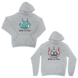 Bibib-bi Mine Grey Matching Hoodies Couple Funny Anniversary Gift