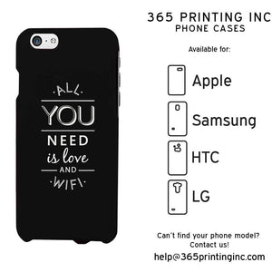 All You Need Is Love And Wifi Funny Case Cute Graphic Design Cover