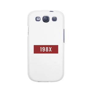 198X Black Cute Phone Case Born in 80s Funny Gift Idea