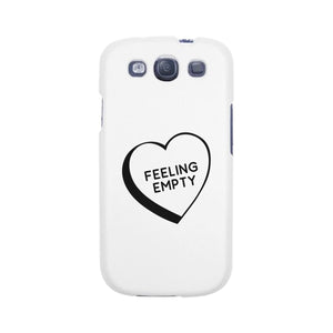 Feeling Empty Heart Graphic Unique Design Black Phone Case